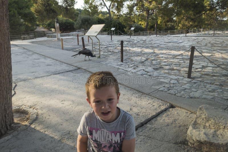 Knossos-Palast Kreta lizenzfreie stockfotos