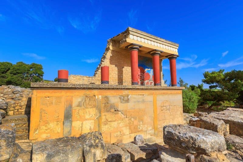 Knossos, ruinas de Creta del palacio de Minoan, Grecia imagen de archivo