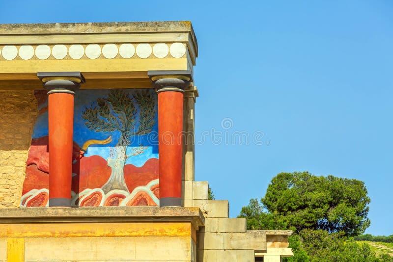 Knossos, ruinas de Creta del palacio de Minoan, Grecia imágenes de archivo libres de regalías