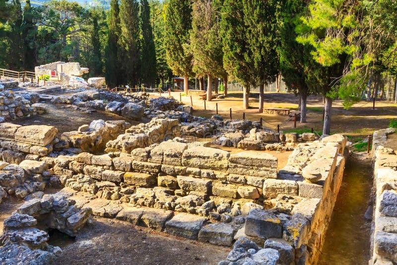 Knossos, ruinas de Creta del palacio de Minoan, Grecia imagenes de archivo