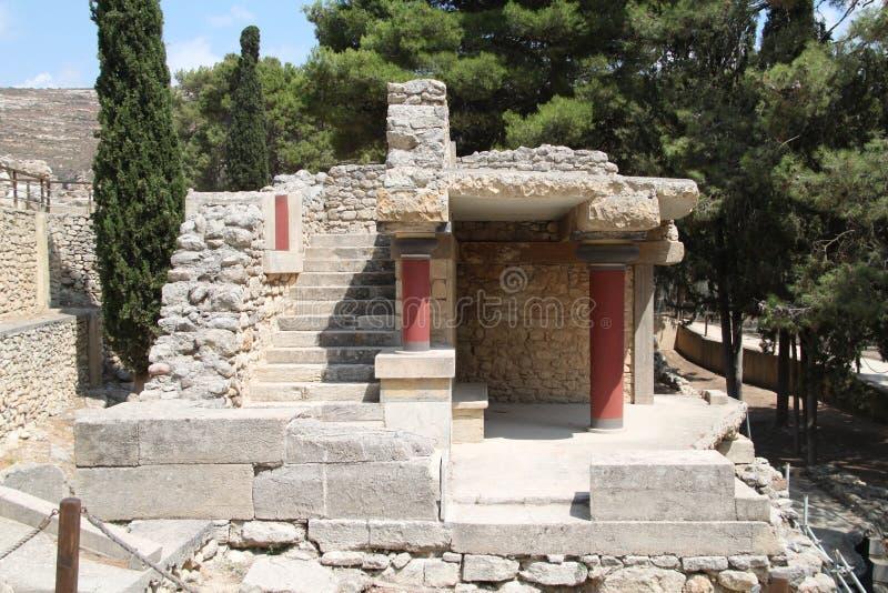 Knossos ruiny, Crete, Grecja zdjęcie royalty free