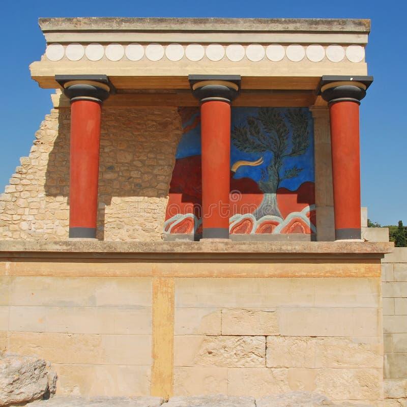 Knossos slott på Kreta arkivfoton