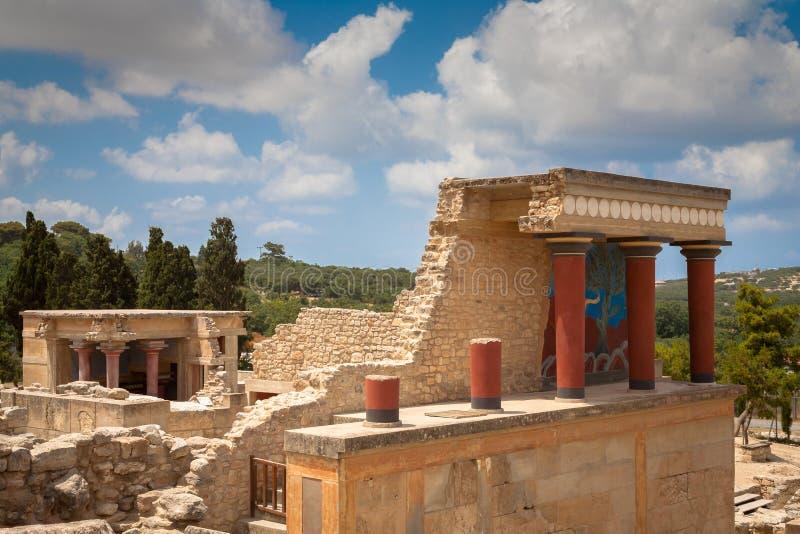 Knossos slott på Kreta arkivbilder