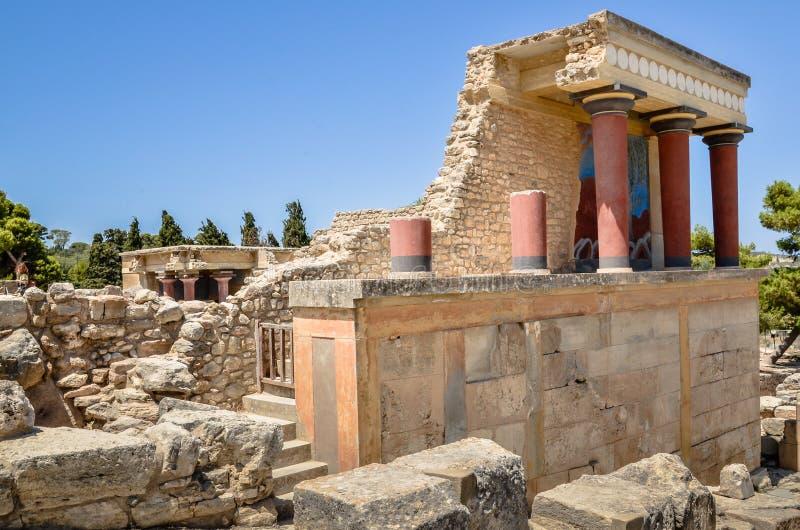 Knossospaleis het plechtige en politieke centrum stock afbeeldingen