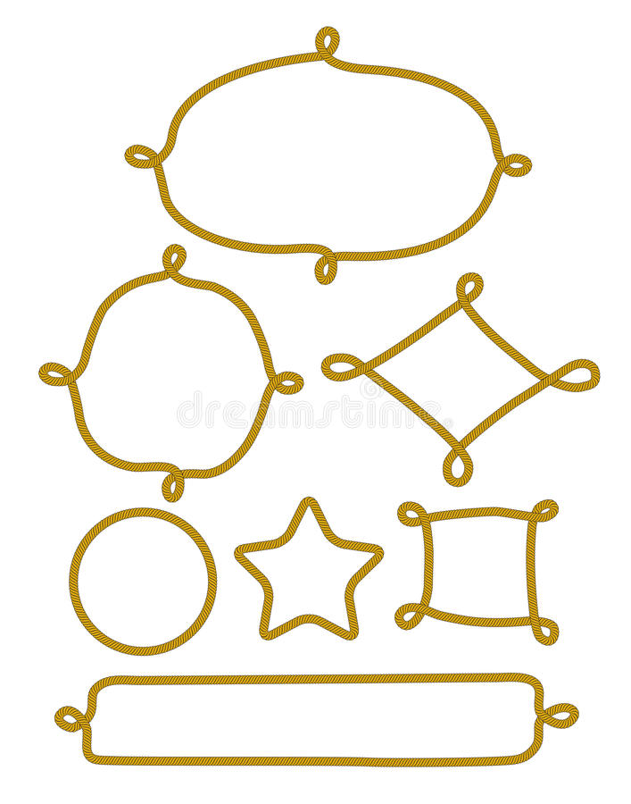 Knot frame stock illustration