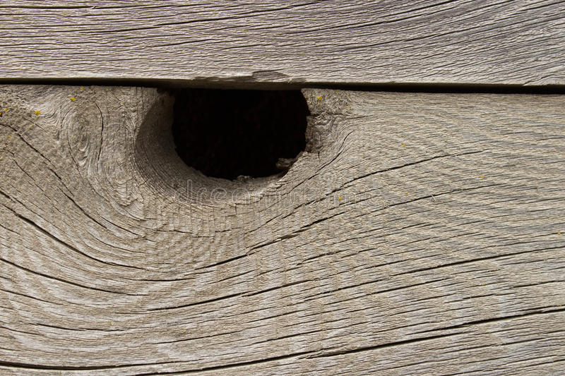 Knot Hole In Wood stock images