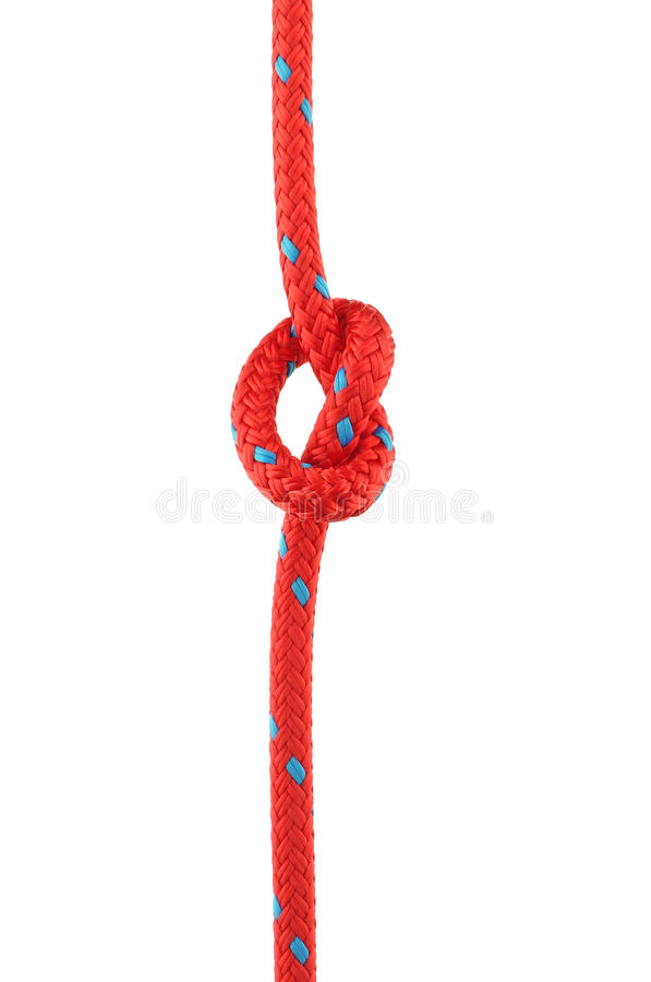 Free Knot In Red Rope Royalty Free Stock Photos - 34249318