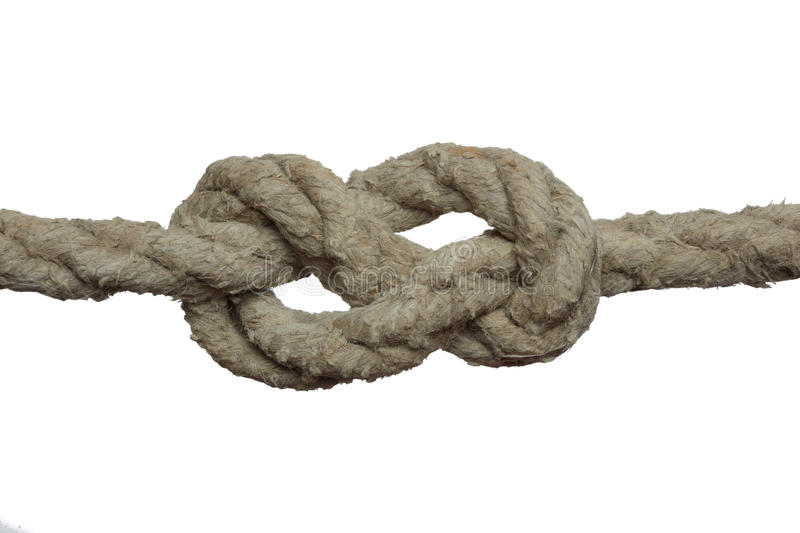 Download Knot on the old rope. stock image. Image of knot, object - 12787197