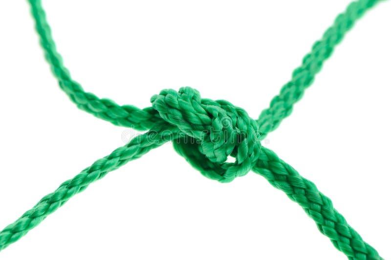 Knoten auf einem Netzkabel lizenzfreie stockbilder