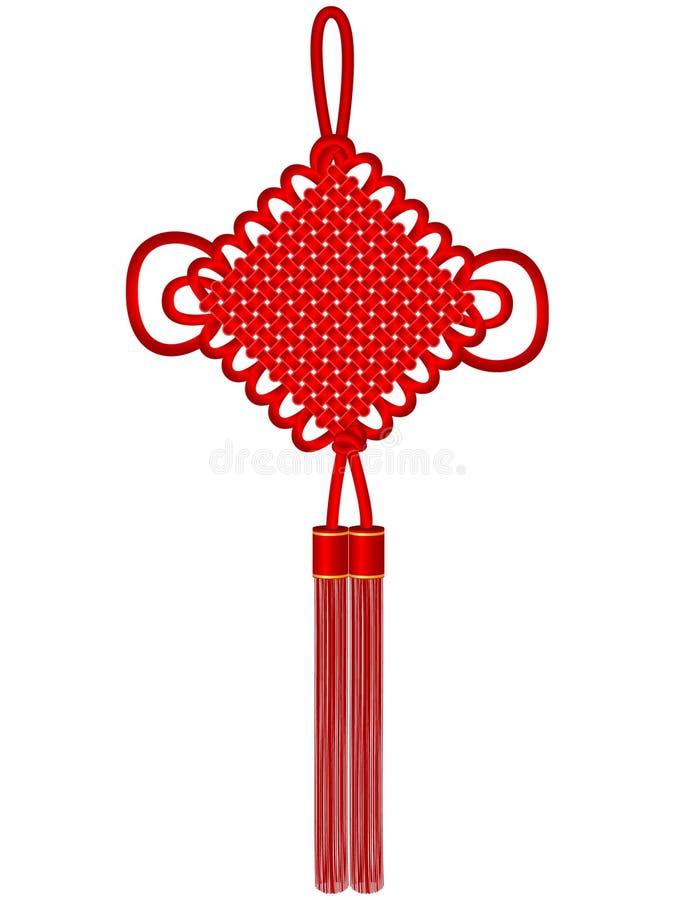 Knoten des traditionellen Chinesen lizenzfreie abbildung