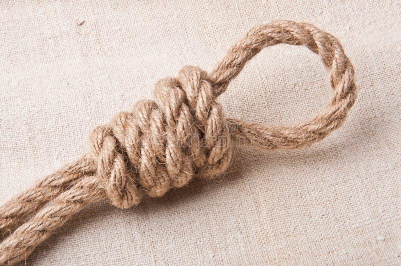Knotenpunkt vom Seil stockfotografie