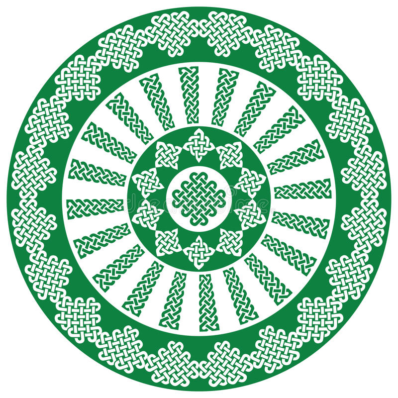 Knotensymbole der keltischen Art der Mandalaart spornten endlose im Weiß und im Schwarzen bis zum Iren-St- Patrick` s Tag an vektor abbildung