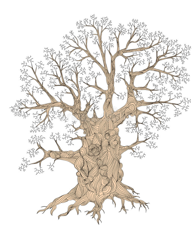Knotiger Baum stock abbildung