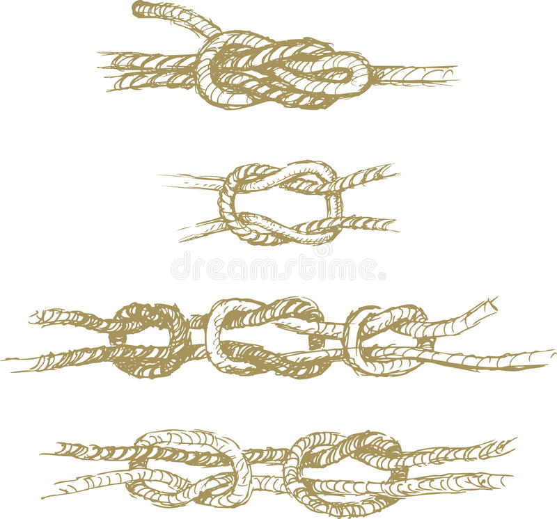 Download Knots stock vector. Image of sketch, contour, flat, hitch - 25087664