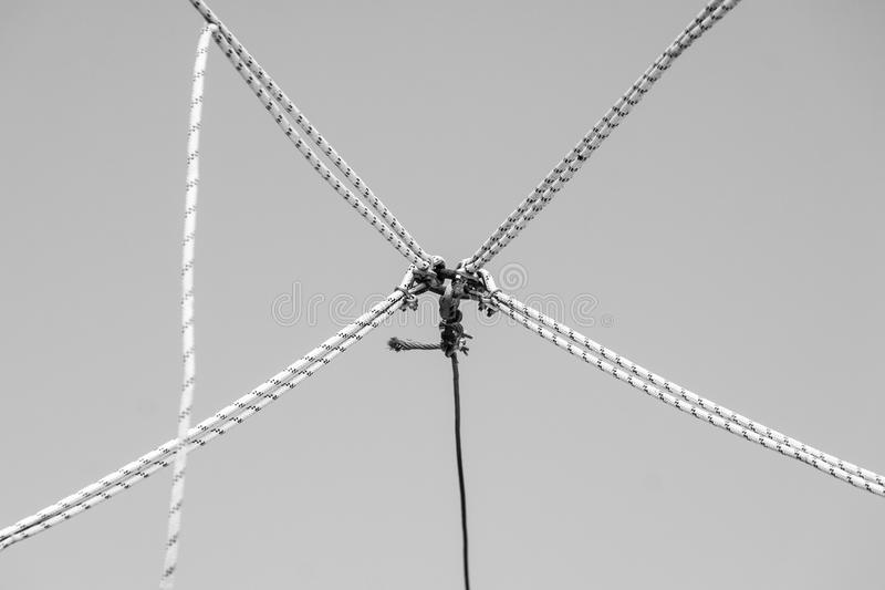 Knots in the air royalty free stock photo