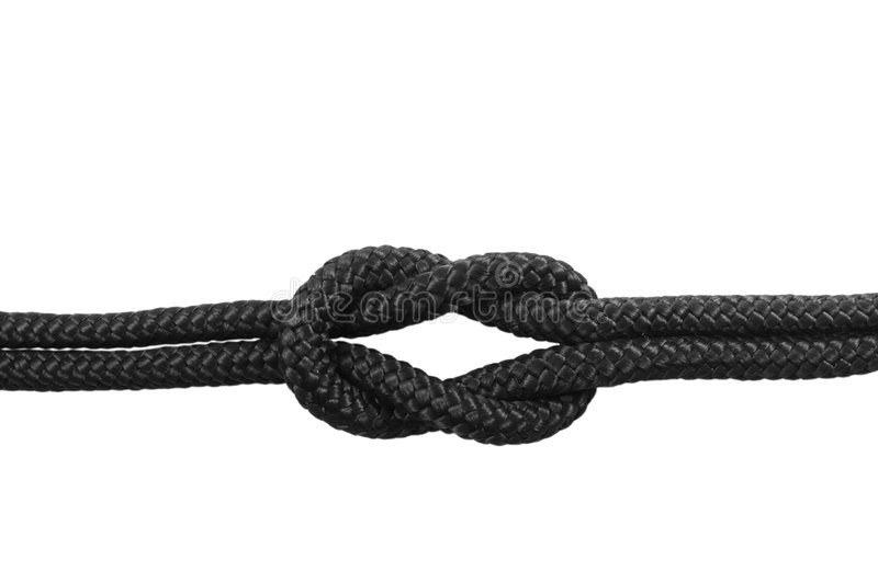 Knots. Square Knot #1 stock photo