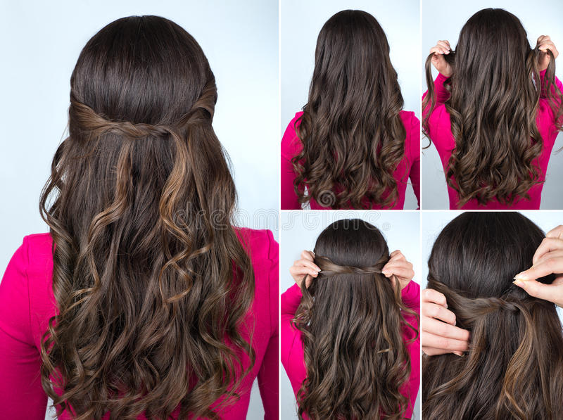 186 Simple Hairstyle Tutorial Photos Free Royalty Free Stock Photos From Dreamstime