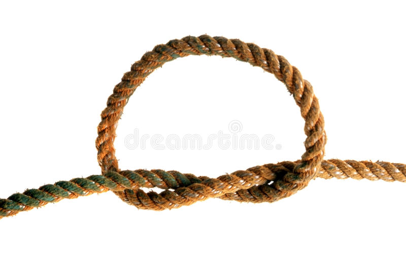 Knotted rope royalty free stock photo