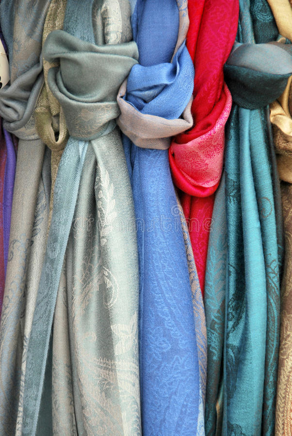 Download Knotted scarves stock image. Image of blue, decorative - 26206537