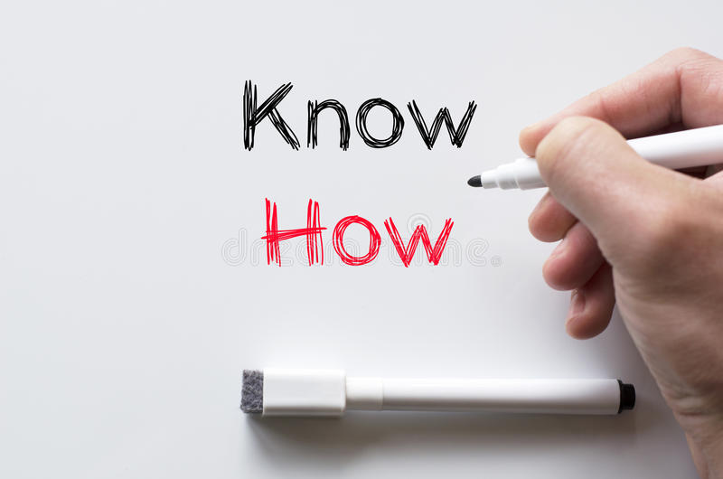 Know how written on whiteboard stock image