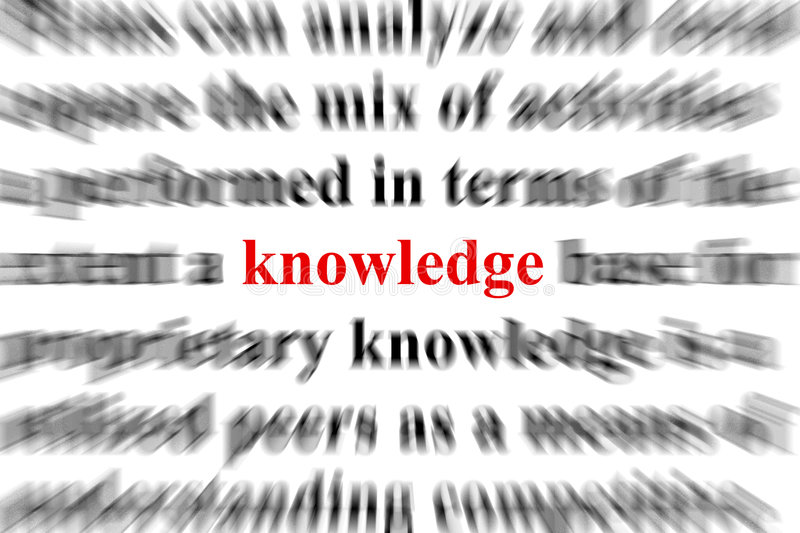 Knowledge. A conceptual image representing a focus on knowledge