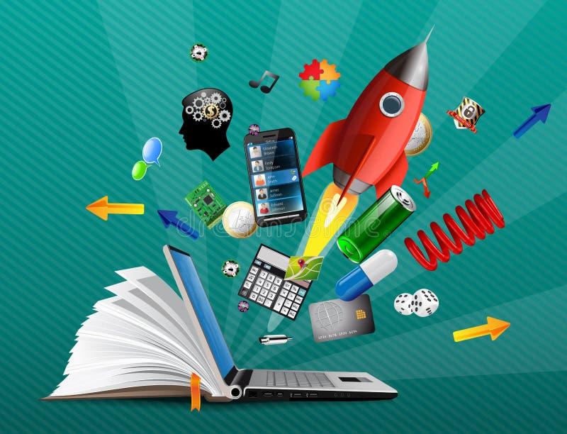 Knowledge base stock illustration