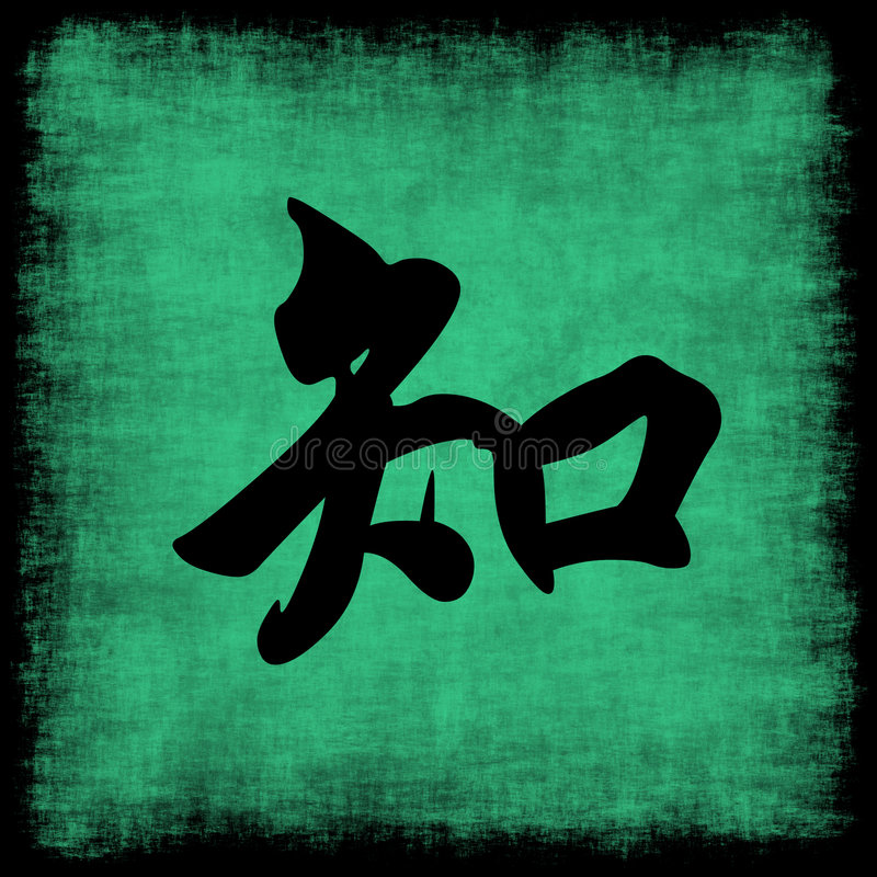 Download Knowledge Chinese Calligraphy Set Royalty Free Stock Photography - Image: 6993037