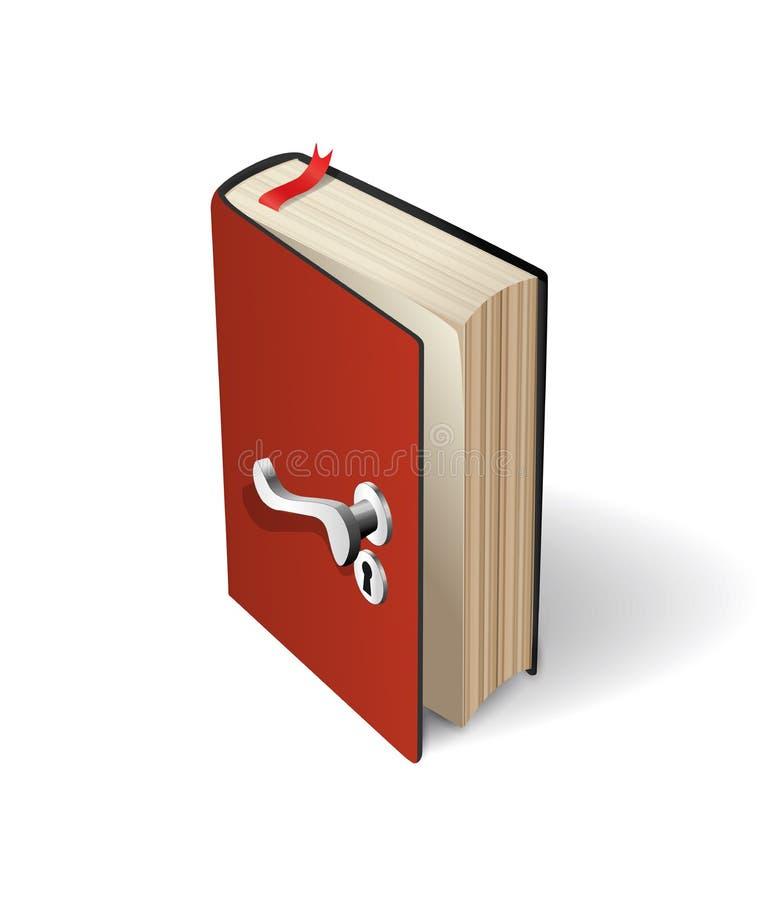 Knowledge concept - book as door to wisdom vector illustration