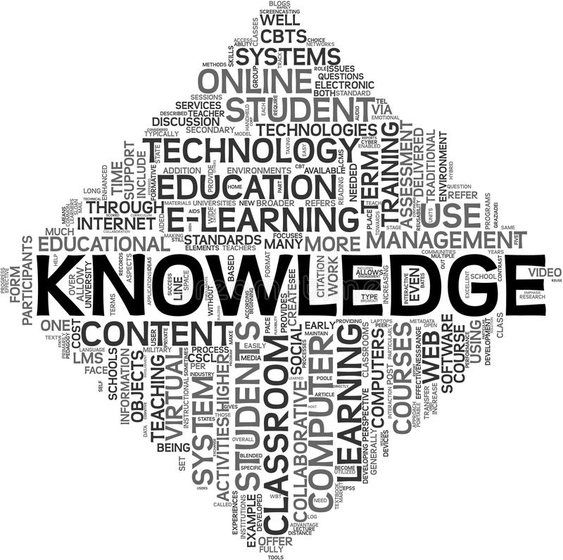 Knowledge concept in tag cloud royalty free illustration