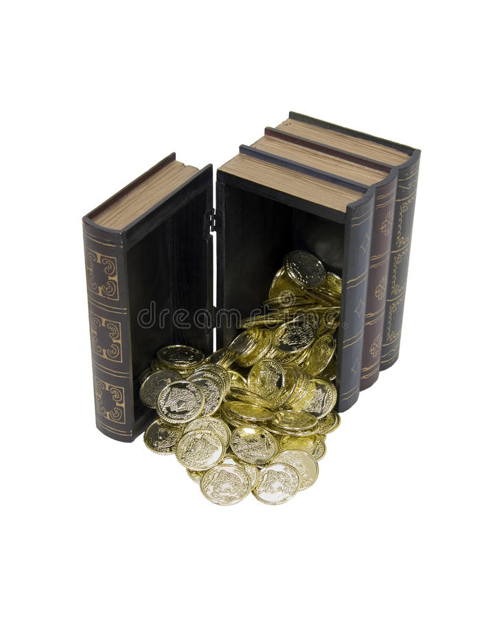 Knowledge is golden stock photos