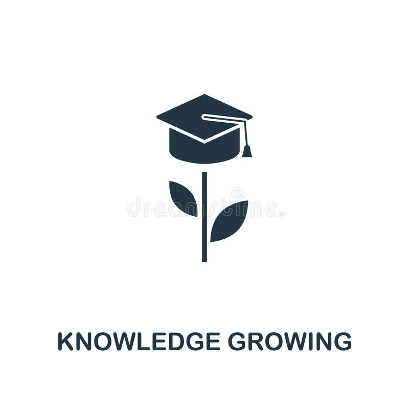 Knowledge Growing icon. Creative element design from productivity icons collection. Pixel perfect Knowledge Growing icon for web stock illustration