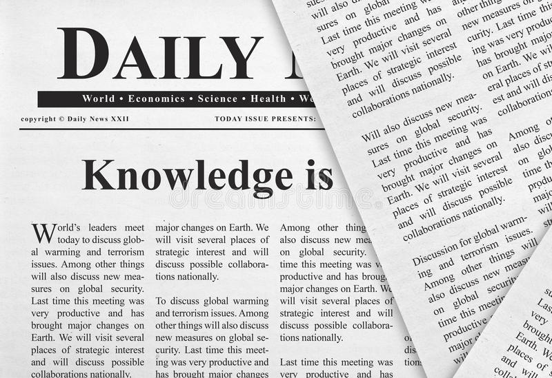 Knowledge headline royalty free stock photography