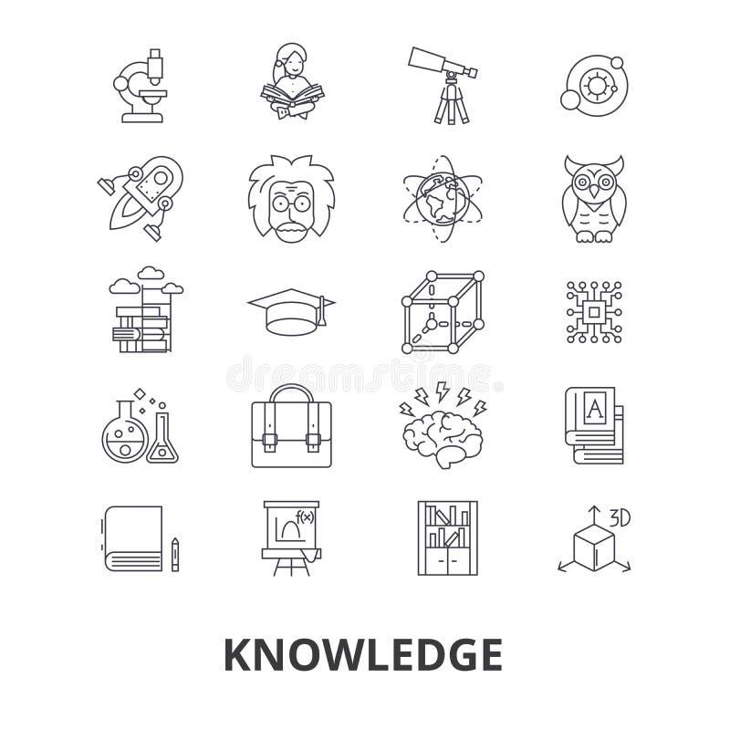 Knowledge icon set stock illustration