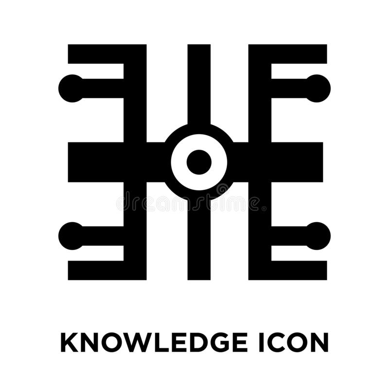 Knowledge icon vector isolated on white background, logo concept. Of Knowledge sign on transparent background, filled black symbol vector illustration