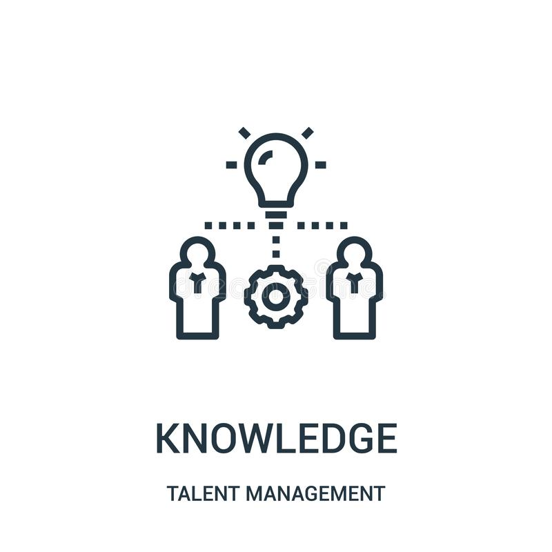 knowledge icon vector from talent management collection. Thin line knowledge outline icon vector illustration stock illustration