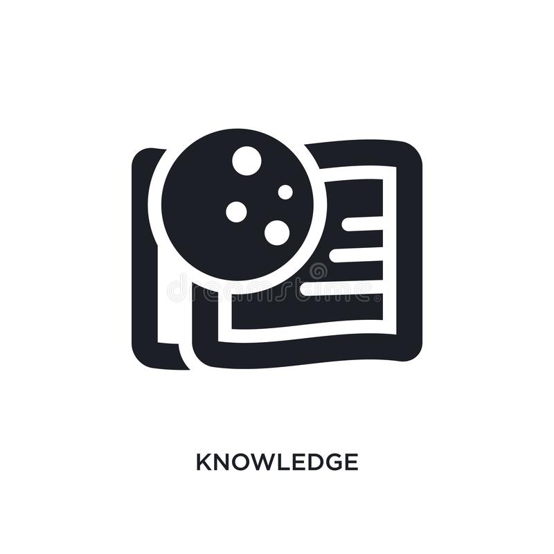 Knowledge isolated icon. simple element illustration from zodiac concept icons. knowledge editable logo sign symbol design on. White background. can be use for vector illustration