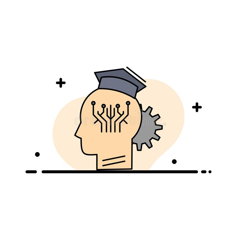 knowledge, management, sharing, smart, technology Flat Color Icon Vector vector illustration