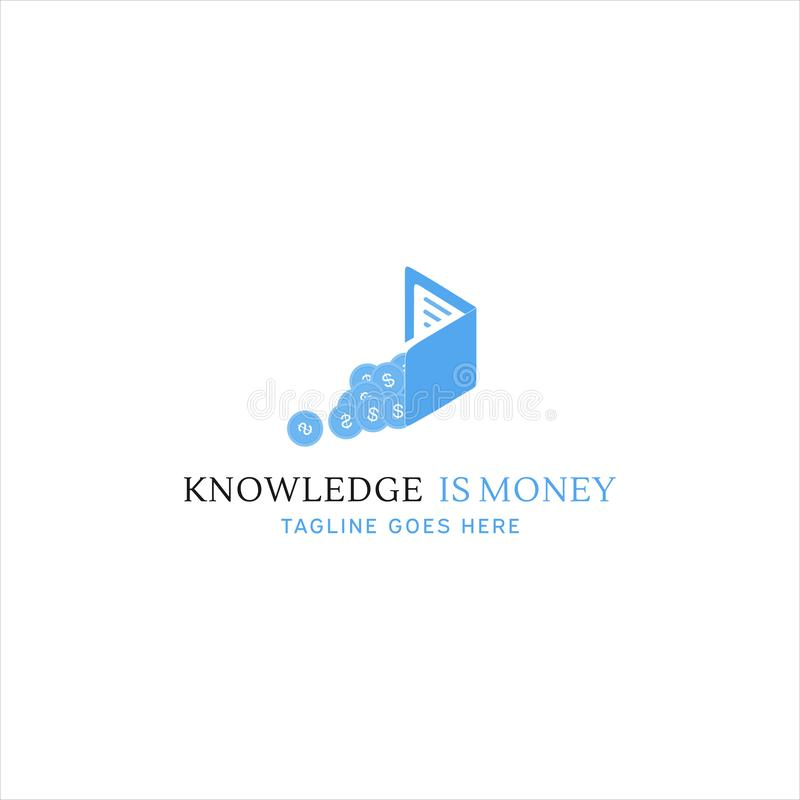 Knowledge Is Money Logo for your company. Knowledge Is Money Logo for your best company stock illustration