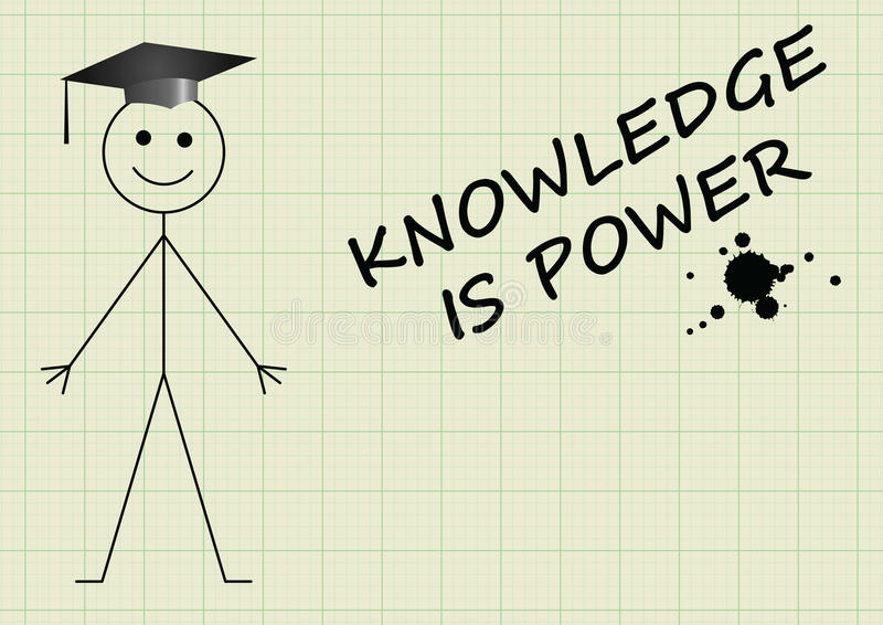 Knowledge is power stock illustration