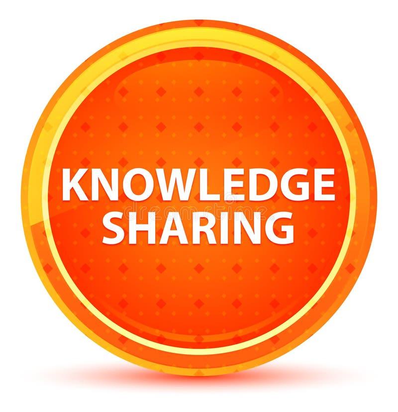 Knowledge Sharing Natural Orange Round Button royalty free illustration