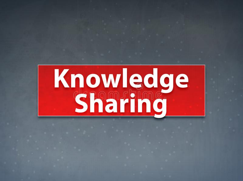 Knowledge Sharing Red Banner Abstract Background royalty free illustration