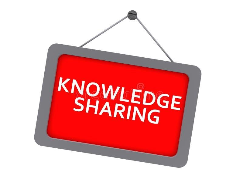 Knowledge sharing royalty free illustration
