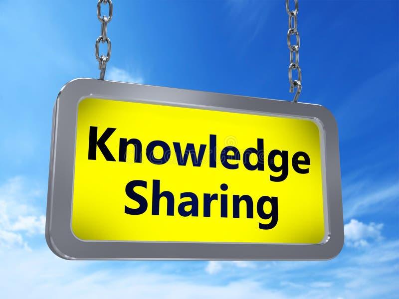 Knowledge sharing on billboard vector illustration