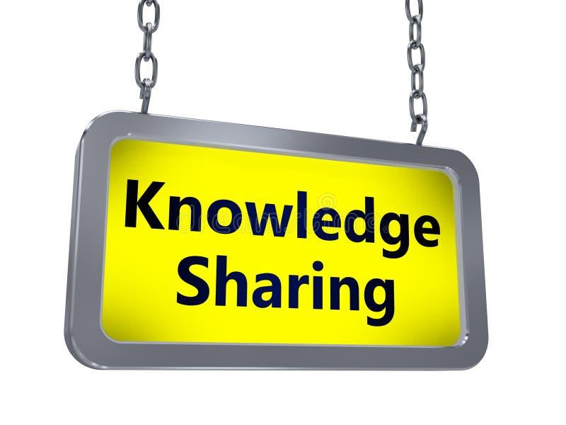 Knowledge sharing on billboard royalty free illustration