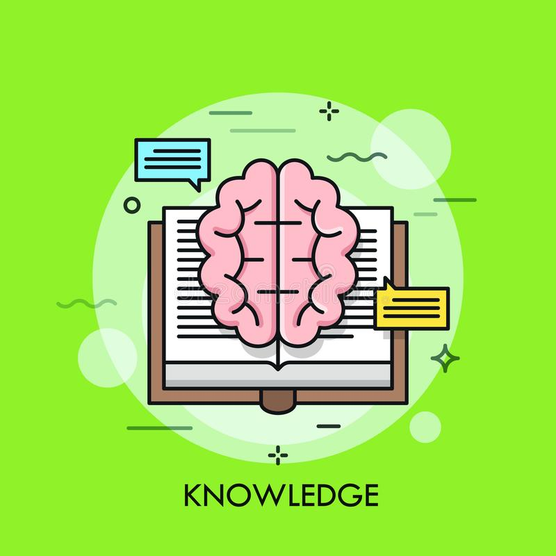 Knowledge thin line concept vector illustration