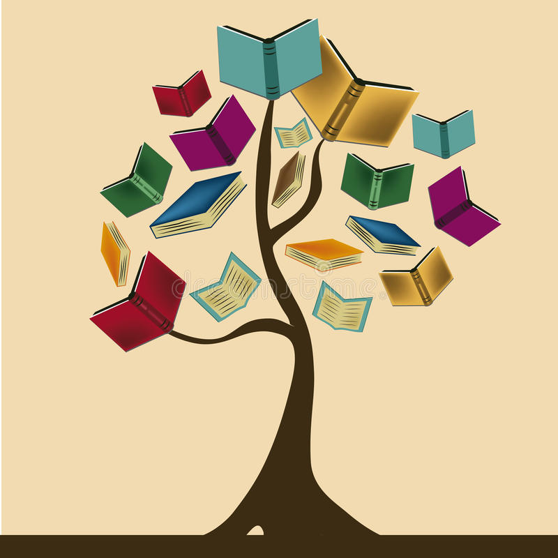 The knowledge tree royalty free illustration