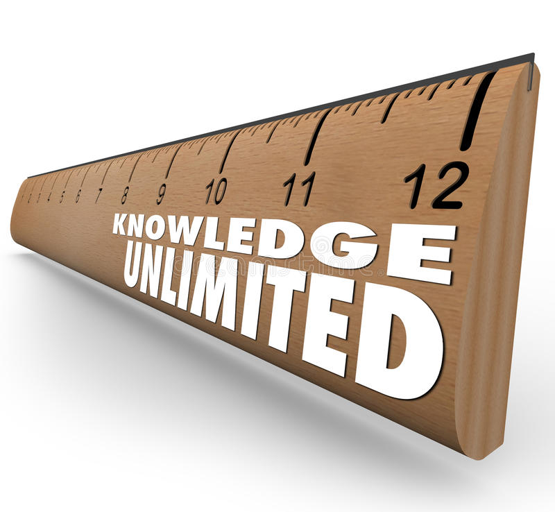 Knowledge Unlimited Ruler High Intelligence Education royalty free illustration