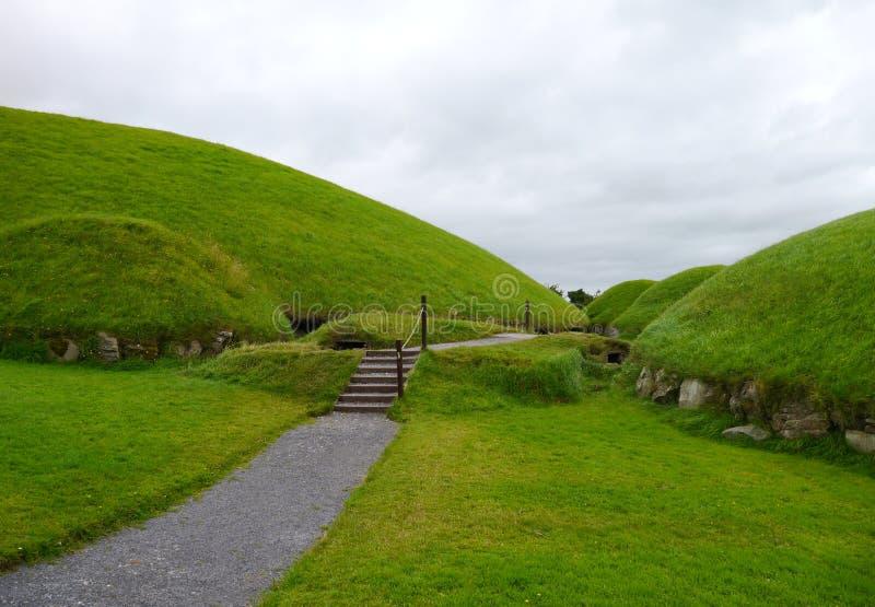 Knowth celtico della tomba fotografia stock libera da diritti