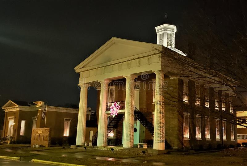 Knox County Courthouse Knoxville Illinois royaltyfria bilder