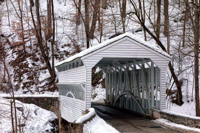 Knox Covered Bridge no parque nacional da forja do vale imagem de stock royalty free
